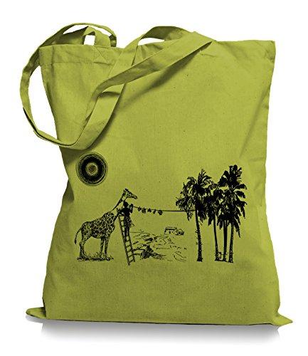 Ma2ca® Wash Day - Jutebeutel Stoffbeutel Tragetasche / Bag WM101 Kiwi
