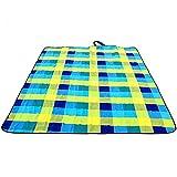 Wangmy Outdoor-Picknick-Matten erhöhen Verdickung Gitter feuchtigkeitsdichten Rasen Matten Strand Matten Frühling Picknick-Matten