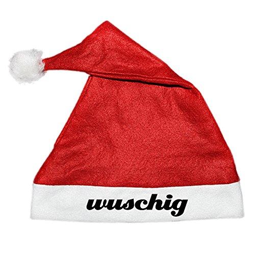 COOLEARTIKEL Weihnachtsmütze Nikolaus Mütze mit Aufdruck - Spruch lustiges Weihnacht-Accessoire für die Xmas Party (Schriftzug: (Kostüme Männer Sexy Santa Für)