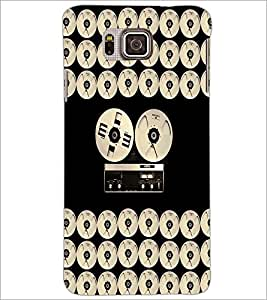 PrintDhaba Vintage Music D-5066 Back Case Cover for SAMSUNG GALAXY ALPHA (Multi-Coloured)