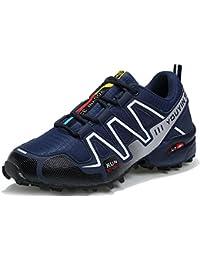 JEDVOO Zapatillas de Senderismo Zapatos para Correr en Montaña y Asfalto Aire Libre y Deportes Zapatillas de Running para Hombre
