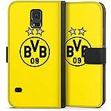 Samsung Galaxy S5 Tasche Hülle Flip Case BVB Borussia Dortmund Sterne