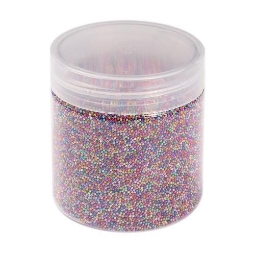 PandaHall Farbe DIY 3d Nagelkunstdekoration Mini runde Glasperlen Kaviar winzigen Nagel-Perlen