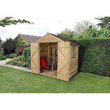Apex Gartenhaus Druck behandelt 7 x 5 tür Holz Schuppen: Amazon.de