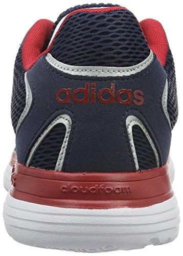 adidas Herren Cloudfoam Speed Turnschuhe, Weiß/Gelb (Maruni/Ftwbla/Amasol), Einheitsgröße Schwarz / Silber / Rot (Maruni / Plamat / Rojpot)