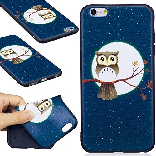 iPhone 6 Plus/6S Plus Coque, Voguecase TPU avec Absorption de Choc, Etui Silicone Souple, Légère / Ajustement Parfait Coque Shell Housse Cover pour Apple iPhone 6 Plus/6S Plus 5.5 (Panda 07)+ Gratuit  Owl avec clair de lune