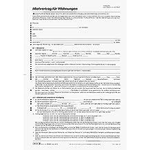 Baier & Schneider Vertragsformular Mietvertrag Wohnungen, A4, 6 Blatt