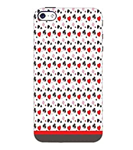 PrintDhaba Heart Pattern D-1662 Back Case Cover for APPLE IPHONE 5 (Multi-Coloured)