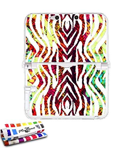 Custodia Finissima NINTENDO 3DS XL al motivo esclusivo [Zebra boubou] [Trasparente] di MUZZANO + STYLET e PANNO MUZZANO IN OMAGGIO - La protezione Antishock ELEGANTE, OTTIMALE e super RESISTENTE per il vostro NINTENDO 3DS XL