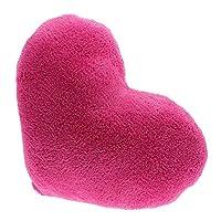 Whyyudan Cute Fluffy Heart Shape Pillow Cushion Chair Back Support Sofa Pillow (Rosy)
