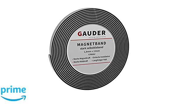 GAUDER Extra stark selbstklebendes Magnetband Magnetstreifen Magnetklebeband