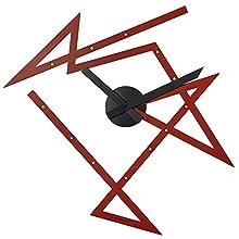 Alessi DL01 R Time Maze Orologio da Parete in Acciaio Colorato con Resina Epossidica, Rosso