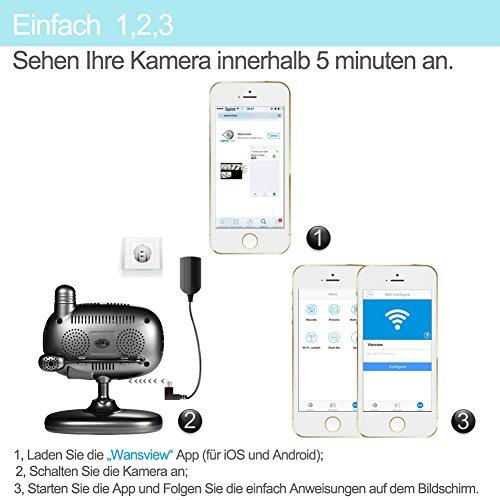 Wansview 1080P Wlan WiFi Wireless IP Sicherheits kamera mit Temperatur-und Feuchtigkeitssensor K1 - 4