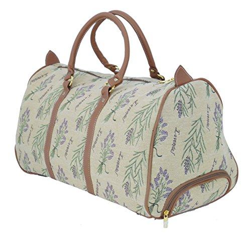 Trolley Reisetasche Gobelin-Stil Signare Handgepäck Reise Tasche Gepäck Urlaub V Fa. Bowatex (Katzenfamilie) Lavendel