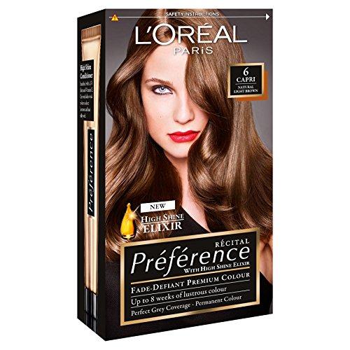 3 x loreal paris recital preference permanent colour 6 capri natural light brown - Coloration Preference