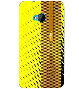 PrintDhaba Pattern D-4981 Back Case Cover for HTC ONE M7 (Multi-Coloured)