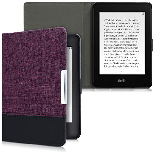 kwmobile Amazon Kindle Paperwhite Hülle - Canvas eReader Schutzhülle Cover Case für Amazon Kindle Paperwhite (für Modelle bis 2017)
