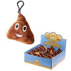 Idea Regalo - Portachiavi Morbido Sonoro Emoji Emoticon Cacca Poop