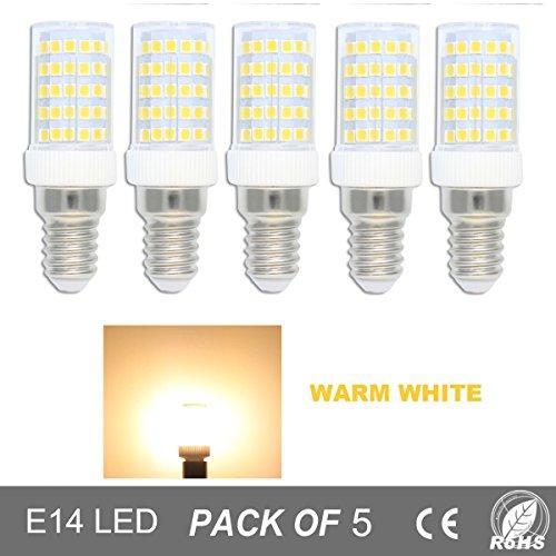 Dimmable E14 LED Lampen 10Watt Äquivalent zu 80W Halogenlampen Glühlampen Warmweiß 3000K Dunstabzugshaube Kleine Kapsel Mais Zwiebeln, 86PCS 2835SMD 800Lumens AC220-240V Kleine Edison Schraube Licht (Geringer Energie Mini-kühlschrank)