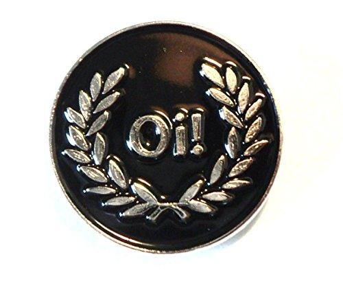 Insignia de metal esmaltado con forma de casco MOD, color negro