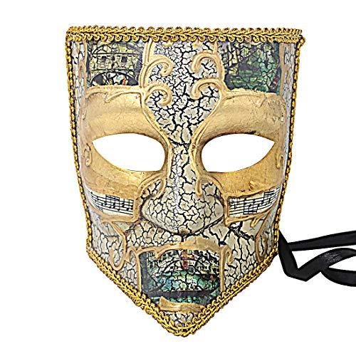 Hophen Bauta Maskerade Venezianische Maske Karneval Halloween Unisex Kostüm Deko Basteln 19 * 21 * 12cm #2