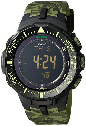 Casio uomo prg-300cm-3cr Pro Trek solar-power triple-sensor orologio