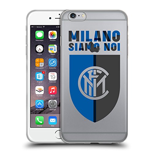 Offizielle Inter Milan Logo Kamm 2017/18 Umhauen Soft Gel Hülle für Apple iPhone 6 Plus / iPhone 6s Plus