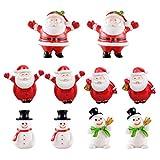 Cabilock 10 Stks Kerstman Beeldje E Delicate Kerst Desktop Decor Miniatuur Versiering Voor Thuis Slaapkamer Woonkamer