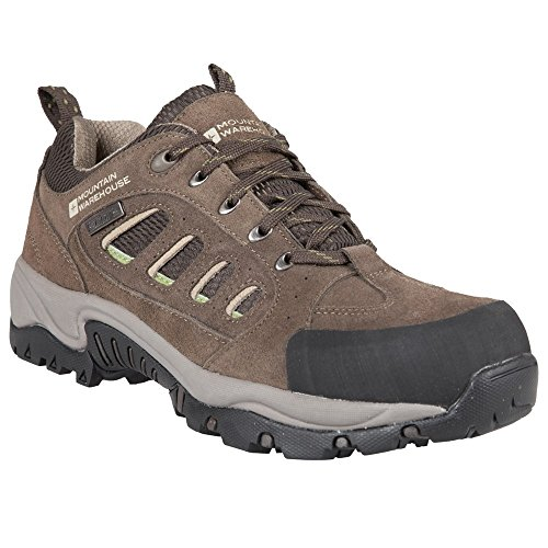 mountain-warehouse-mens-lockton-waterproof-walking-hiking-rainproof-shoes-lime-9-uk