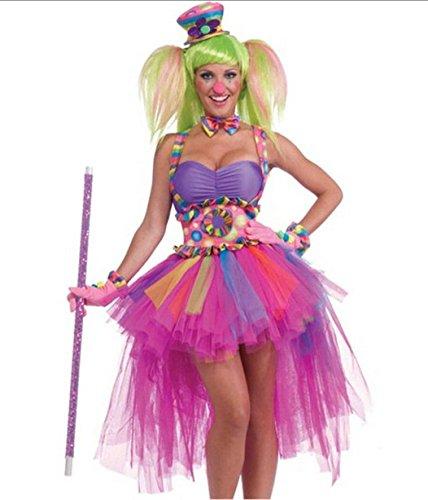 Gorgeous Halloween-PartyfeiernZirkusclown -Rollenspiel neue niedliche weibliche (Clowns Kostüme Niedliche)