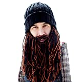 Beard Head Bonnet Barbe - Barbare Rocker - Masque Chic Calotte Drôle et Faux Barbe...