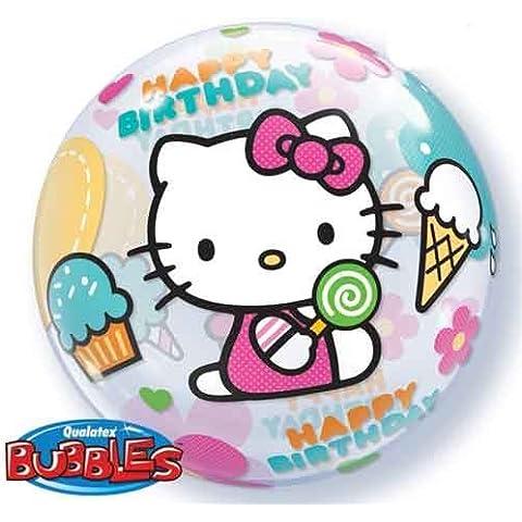 22 Hello Kitty Birthday Bubble Balloons by Single Source Party Supplies - Hello Kitty Birthday Party Balloons