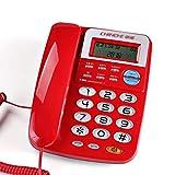 ZYFA Telefon Festnetz-Telefon, Anrufer-ID-Freisprecheinrichtung, Festnetz im Home Office (Farbe : D)