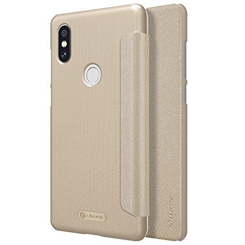 Capa de Couro Flutuante em Pele Fina Ultra Fina para Xiaomi Mi MIX 2S (Dourado)