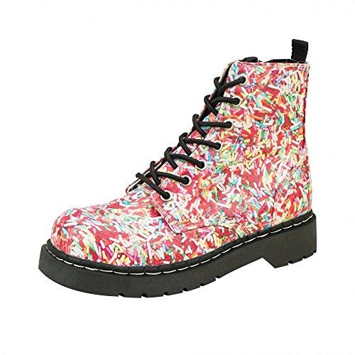 T.U.K. Shoes Women's Anarchic Hundreds & Thousands 7 Eye Combat Boots