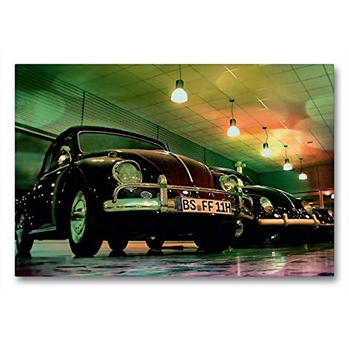Calvendo Premium Textil-Leinwand 90 cm x 60 cm quer, Oldtimer aus Deutschland | Wandbild, Bild auf Keilrahmen, Fertigbild auf echter Leinwand, Leinwanddruck: VW Käfer Mobilitaet Mobilitaet