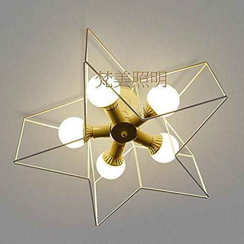 LINA-Retro Vintage colgante tonos claros contemporáneo colgante techo techo Metal luz iluminación lámpara Luz de techo LED , 5 head