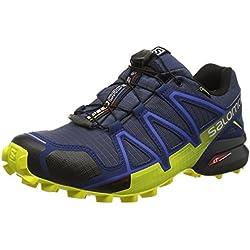 Salomon, Speedcross 4 Gtx, Scarpe da Trail Running, Uomo, Blu (Slateblue/Blue Depth/Corona Yellow), 40 EU