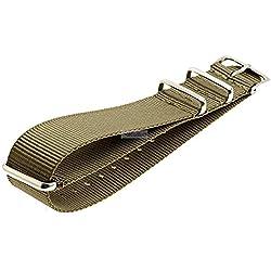 Nato Uhren Armband Nylon Ersatzband verschiedene Breiten 919-schlamm, Breite:22 mm