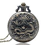 Vintage Pocket Watch, Retro-China-Tierkreis-Kaninchen-Nette Volle Jäger-Taschen-Uhr für Männer-Frauen, Rundes Quarz-Taschen-Uhr-Geschenk