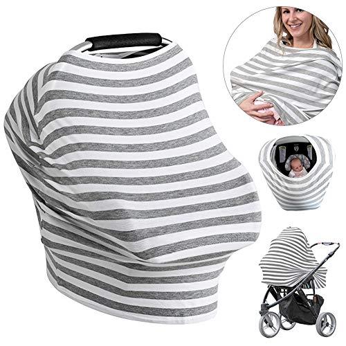 Stillschal, Nursing Cover Atmungsaktive Warenkorb Swaddle Decke Pflegeabdeckung Stilltuch aus Weichem Baumwoll für 360 Grad Volle Privatsphäre Stillen Schutz