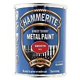 Hammerite hmmsfr250–Direkt auf Rost Glatte Finish 250ml, Rot