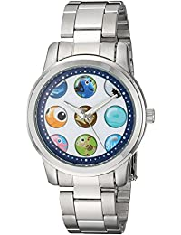 Disney Women's 'Nemo and Crush' Quartz Metal and Stainless Steel Casual Watch, Color:Silver-Toned (Model: WDS000354)