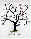 Livingstyle & Wanddesign Fingerabdruck Leinwand für jedes Fest mit Name und Datum, Motiv Baum (ohne Staffelei)