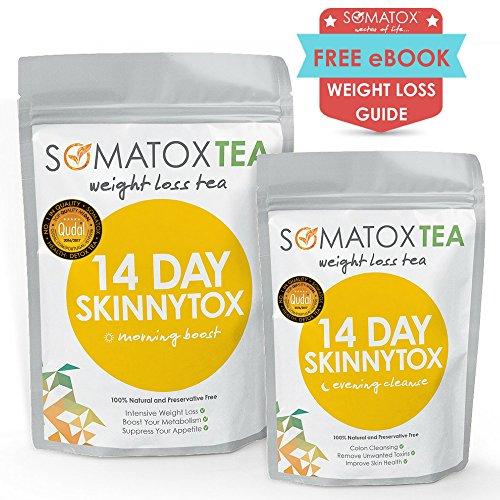 Thé ultime pour la Détox ? 14 Jours + Nuit Détox Skinnytox - SOMATOX TEA (Thé pour la perte de poids • Thé pour régime • Thé amincissant • Thé vert • Bruleur de graisses) Thé minceur - Weight Loss Tea - Detox Tea - Teatox