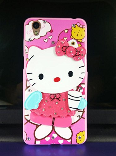 new arrival 1f998 a4dee Dream2Cool Printed Makeup Mirror Hello Kitty Back Cover Case for Oppo A37