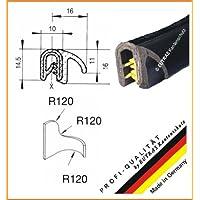 eutras Junta Perfil KSD2102Puerta goma para maletero Junta–Rango de sujeción 1,0–3,5mm–Negro–3M