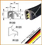 EUTRAS Dichtungsprofil KSD2102 Türgummi Kofferraumdichtung  – Klemmbereich 1,0 – 3,5 mm - schwarz - 3 m