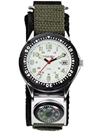 Cannibal Men's Quartz Watch with White Dial Analogue Display and Green Nylon Strap CG146-01