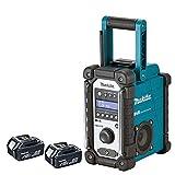 Makita DMR109 10.8v-18v LXT/CXT LI-ion Job Site Radio With 2 x BL1850 5.0Ah Batteries